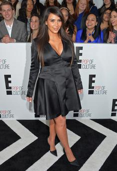 Television personality Kim Kardashian attends the E! 2013 Upfront at The Grand Ballroom at Manhattan Center in April, 2013.