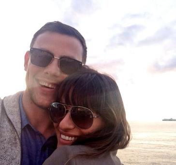 Lea posted this photo of herself and boyfriend Cory with the heartfelt message.