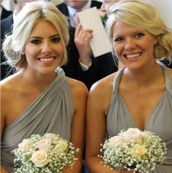 Saturdays singer Mollie King and her sister Laura were bridesmaids for the big day.