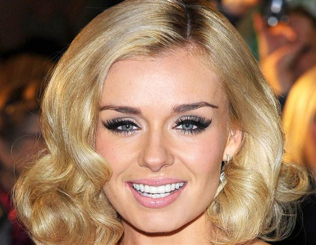 Katherine Jenkins has been criticised for wearing too much make-up.
