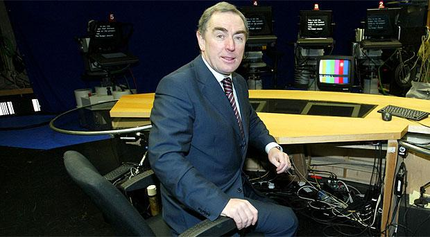 Colm Murray at RTE studios in 2002
