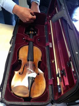 The 300-year-old instrument and two bows worth were stolen from Korean-born violinist Min-Jin Kym, 35, by opportunists while she was eating in a Pret a Manger cafe at London's Euston station.