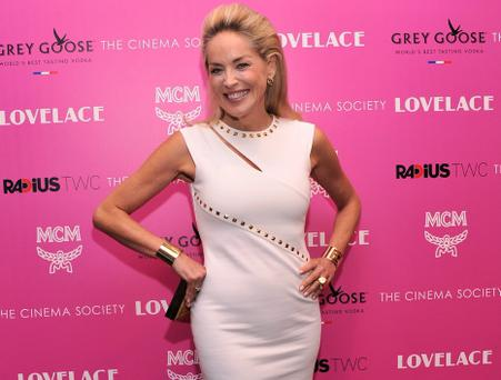 Sharon Stone in New York at the screening of her new movie 'Lovelace'