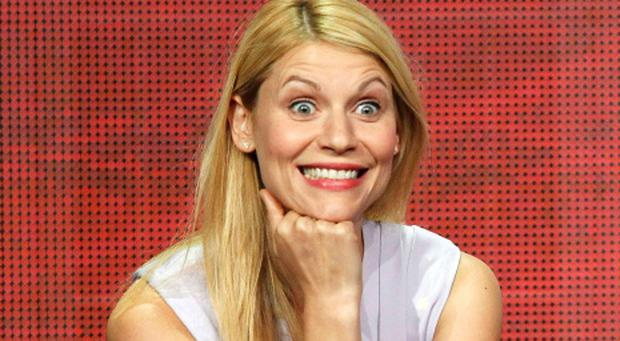 Claire Danes at a press briefing ahead the third series of Homeland