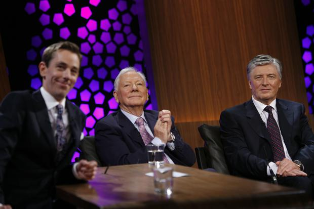 Ex Late Late Show hosts Gay Byrne and Pat Kenny: