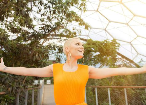 Jessie J poses at the Eden Project ahead of her performance at The Eden Sessions in St. Austell, England. The star has revealed she would love to start a family soon.