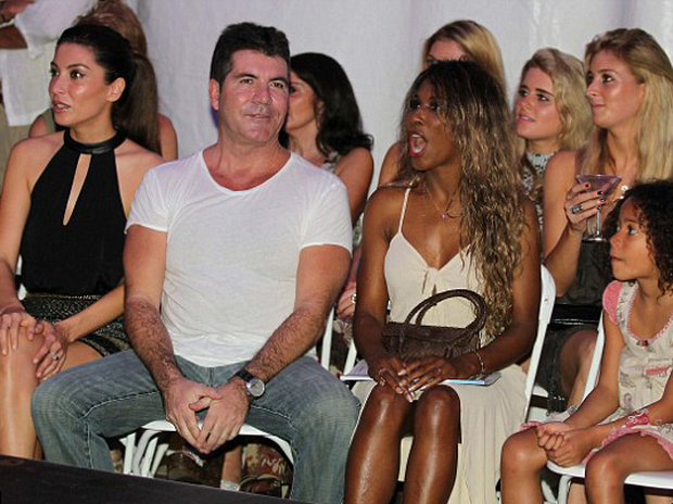 b8b4ea06e4 Simon Cowell with former girlfriends Sinitta (right) and Mezhgan Hussainy  (left)