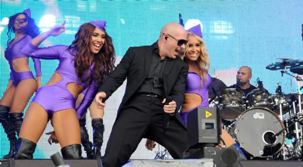 PITBULL pictured performing at Oxegen Festival 2013