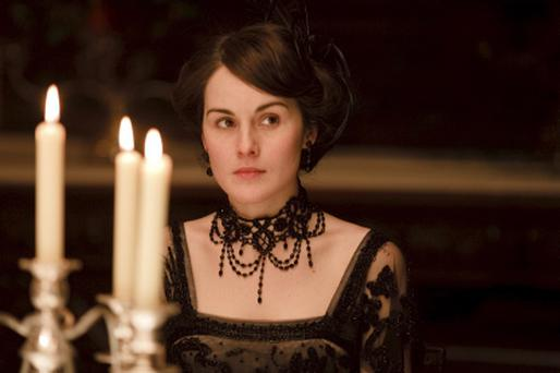 Michelle Dockery in costume as Lady Mary Crawley. Photographer: Nick Briggs (ITV)