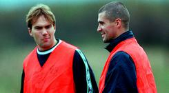 Roy Keane and Jason McAteer