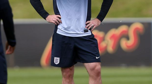 England's Wayne Rooney during the training session at St George's Park today