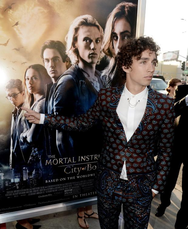 Actor Robert Sheehan arrives at the premiere of Screen Gems & Constantin Films' The Mortal Instruments: City Of Bones