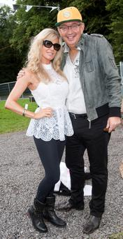 Lisa Murphy and Gerald Kean pictured at Eminem concert Slane Castle