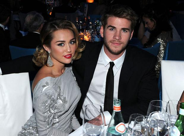 Miley Cyrus and Liam Hemsworth in 2013