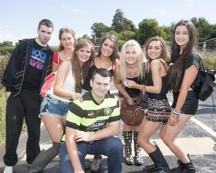 Fans arrive for Eminem concert at Slane Castle . Pic Patrick O'Leary
