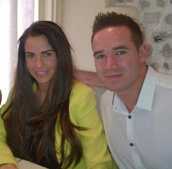Katie Price with husband Kieran Hayler. Pic: Twitter