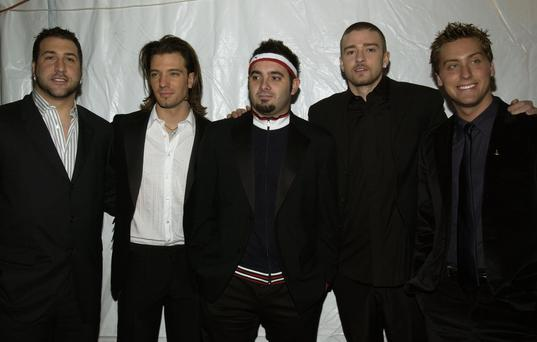 *NSYNC at the 2003 Clive Davis Pre-GRAMMY Party. (Photo by L. Busacca/WireImage)