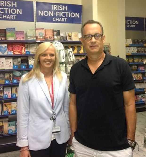 Tom Hanks stops at Shannon airport