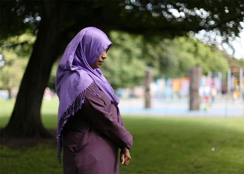 A worker who told women to stop praying in park has been suspended