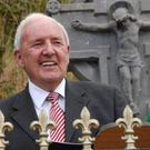 Bill O'Herlihy giving the oration at the annual Michael Collins commemorations in Beal na Blath