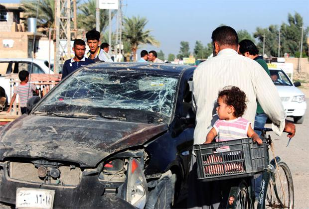 The attacks today come after a series of bombings, including this one in Baquba, 65km (40 miles) northeast of Baghdad