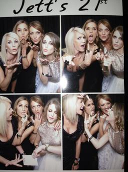 The four pals spent the night striking poses and voguing in a novelty photo booth.