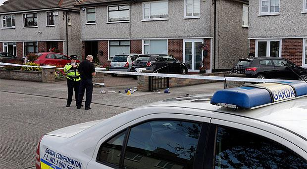 The scene of the shooting at Glasnevin Avenue