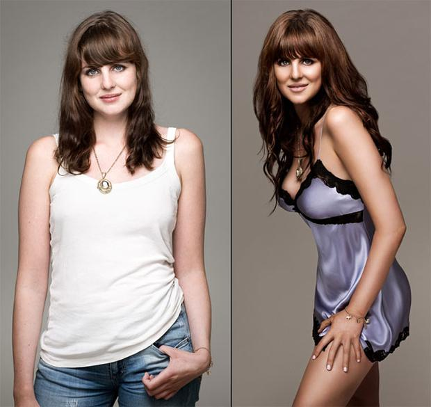 Maggie transformed into a Victoria's Secret Angel with a little help from the beauty world and Photoshop.