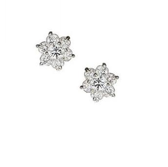 These flower cubic stud earrings from Topshop will provide the perfect amount of bling for those donning up-styles and showing off an elegant neck. The plus? They're less than €20.