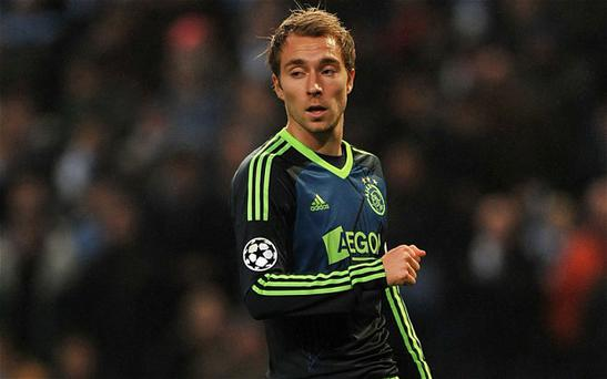 New recruit: Tottenham are hoping to add Ajax midfielder Christian Eriksen to their squad as Gareth Bale's departure looms