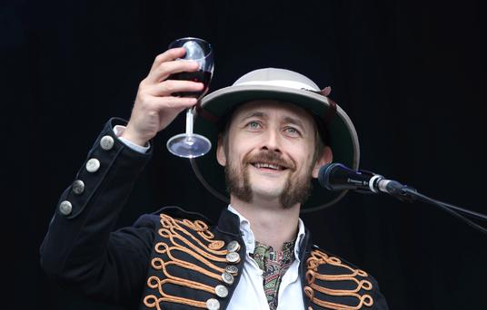 Neil Hannon, singer with the Duckworth Lewis Method plays the main stage