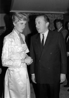 File photo dated 3/2/1989 of the Princess of Wales talking to David Frost.