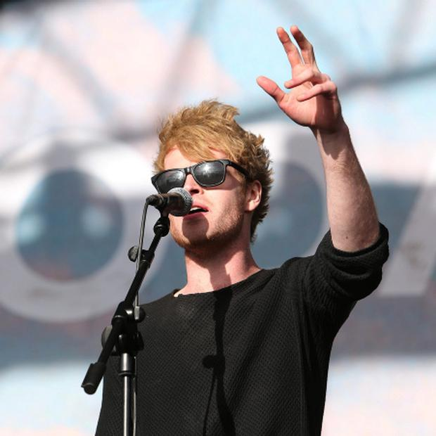 1/9/2013; Kodaline lead singer, Steve Garrigan performs on the main stage at the last day of Electric picnic at Stradbally, Laois. Damien Eagers / Irish Independent