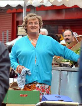 "Filming on the 1st day of Brendan O'Carrolls,"" Mrs Browns Boys "" D'Movie on Dublins Moore Street. (Photo: John Dardis)"