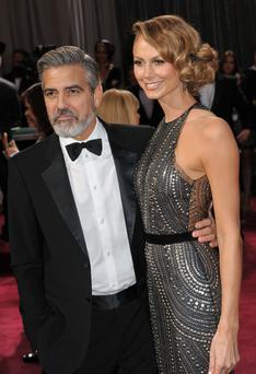 Actor George Clooney and actress Stacy Keibler pictured last year (Photo by Jennifer Graylock/FilmMagic)