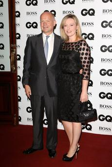 William Hague and Ffion Jenkins attends the GQ Men of the Year awards at The Royal Opera House on September 3, 2013 in London, England.