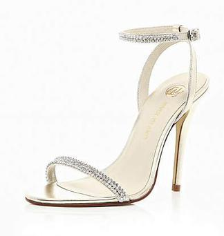 These barely there diamanté-encrusted strap sandals are a debs staple but have always been the shoe of the moment. This elegant pair feature a buckle fastened ankle strap and a 10.5cm gold-toned stiletto heel. They retail at €75 from River Island and are sure to become a wardrobe keeper that will be used for your next formal event.