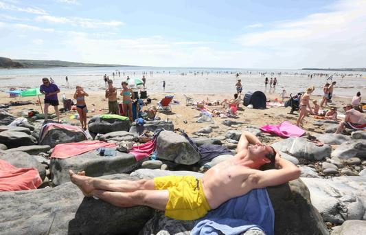 Brian Hassett from Quin, Clare pictured at Lahinch beach in Co Clare Photo: Brian Arthur/ Press 22.