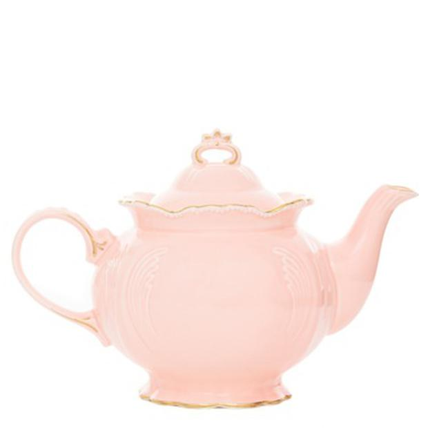 Carolyn Donnelly Eclectic Blush Teapot €15 in Dunnes Stores is adorable and girlie.