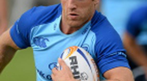 Leinster's Luke Fitzgerald in action during squad training