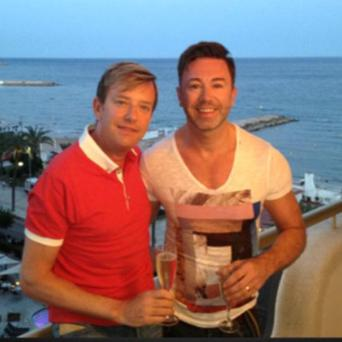 Alan Hughes and his partner Karl Broderick on holiday. June 19, 2013