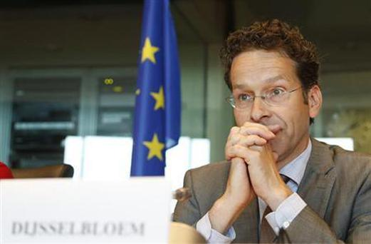 Eurogroup chairman Jeroen Dijsselbloem waits to address the European Parliament's Economic and Monetary Affairs committee to discuss the way in which assistance to member states has been conducted REUTERS/Francois Lenoir