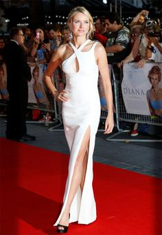 Actress Naomi Watts was the queen of the red carpet in London last night at the premiere of the film, 'Diana', in which she plays the tragic princes