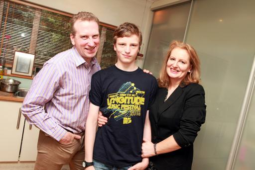 lesley Williams, wife Caitriona and son Grellan