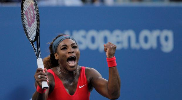 Serena Williams of the U.S. celebrates after defeating Li Na