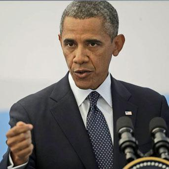President Barack Obama answers questions during his news conference at the G-20 Summit