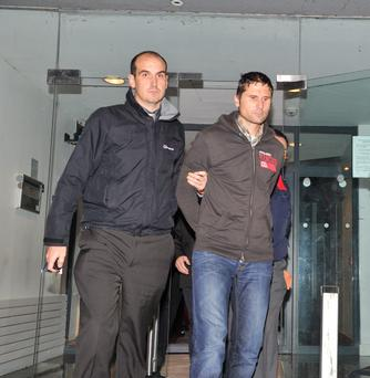 Marius Daniel Sarzynski (pictured on the right) was charged with the murder of his wife Aleksandra Sarzynska at Trim court last night. Picture Ciara Wilkinson.