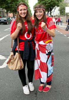 Sheleen Glynn and Emma Coakley from Mallow at the All Ireland Final