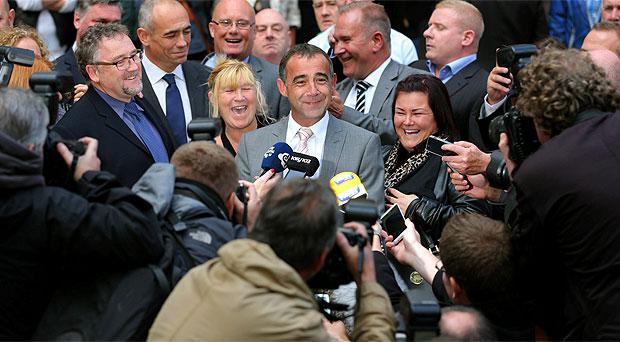 Coronation Street actor Michael Le Vell outside Manchester Crown Court after he was cleared of child sex offences