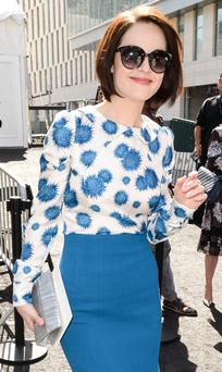 Michelle Dockery seen around Lincoln Center during Spring 2014 Mercedes-Benz Fashion Week